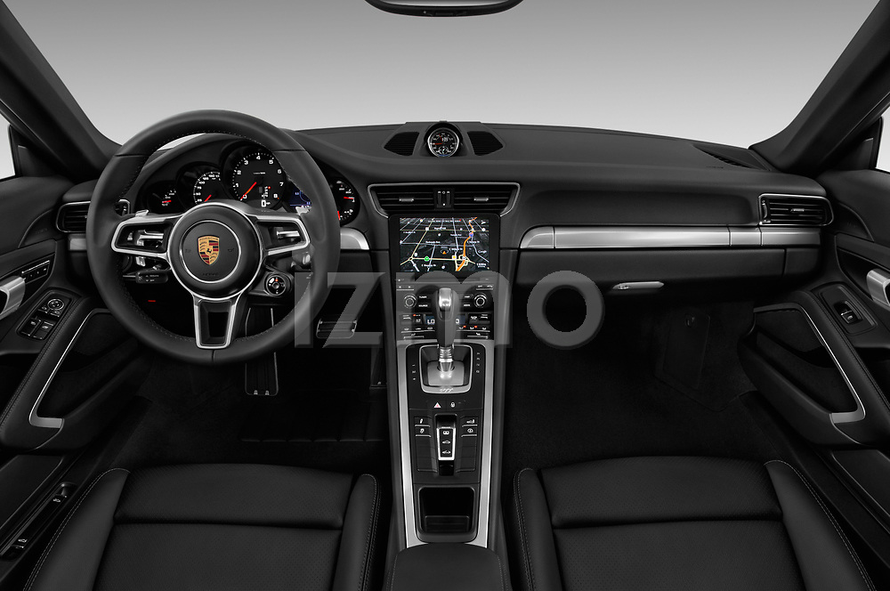 Stock photo of straight dashboard view of 2017 Porsche 911 Carrera-Coupe 2 Door Coupe Dashboard