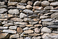 Fieldstone wall detail.