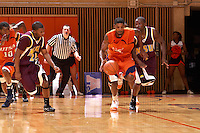 SAN ANTONIO , TX - NOVEMBER 7, 2009: The Midwestern State University Mustangs vs. The University of Texas At San Antonio Roadrunners Men's Basketball at the UTSA Convocation Center. (Photo by Jeff Huehn)