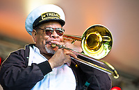 Treme Brass Band at the 2011 Voodoo Festival in New Orleans, LA.