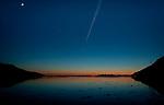 Sunset scene Turnagain Arm near Anchorage, Alaska.