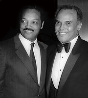 Jessie Jackson and Harry Belafonte 1980<br /> Photo By John Barrett/PHOTOlink