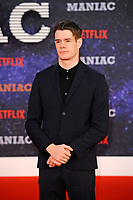 LONDON, ENGLAND - SEPTEMBER 13:   Connor Swindells attending the World premiere of the new Netflix series 'Maniac' at Southbank Centre on September 13, 2018 in London, England.<br /> CAP/MAR<br /> &copy;MAR/Capital Pictures