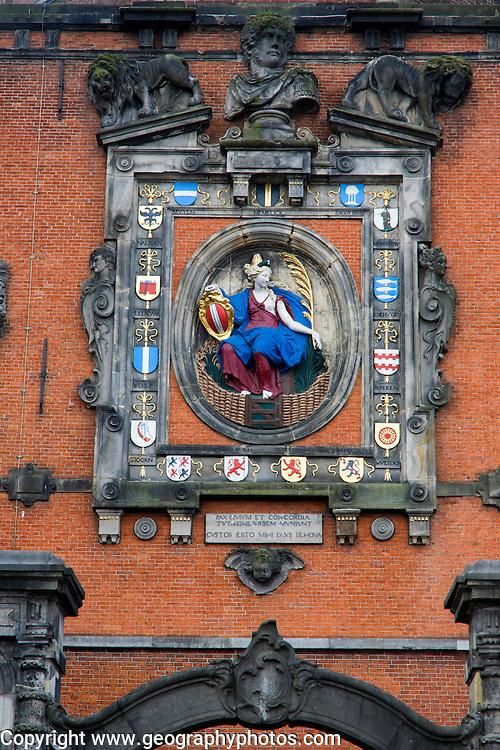 Gatehouse detail Groothoofdspoort, Dordrecht, Netherlands