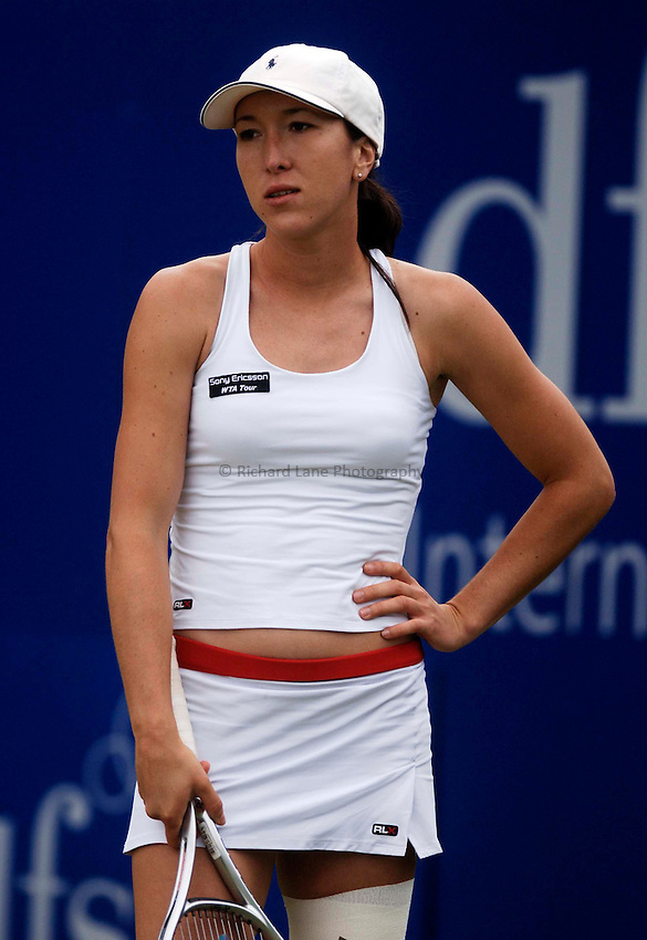 Photo: Glyn Thomas..DFS Classic Tennis final..Edgbaston Priory Club, Birmingham. 12/06/2005..Jelena Jankovic is disappointed to finish the loser in the final in three sets to Maria Sharapova.