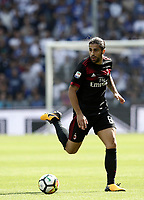 Calcio, Serie A: Genova, Stadio Luigi Ferraris, 24 settembre 2017. <br /> Milan's Ricardo Rodriguez in action during the Italian Serie A football match between Sampdoria and Milan at Genova's Luigi Ferraris stadium. September 24, 2017.<br /> UPDATE IMAGES PRESS/Isabella Bonotto