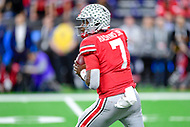 Indianapolis, IN - DEC 1, 2018: Ohio State Buckeyes quarterback Dwayne Haskins (7) drops back to pass the football during second half action of the Big Ten Championship game between Northwestern and Ohio State at Lucas Oil Stadium in Indianapolis, IN. Ohio State defeated Northwestern 45-24. (Photo by Phillip Peters/Media Images International)