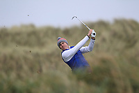 Alex MaGuire (Laytown &amp; Bettystown) on the 13th tee during Round 2 of the Ulster Boys Championship at Portrush Golf Club, Portrush, Co. Antrim on the Valley course on Wednesday 31st Oct 2018.<br /> Picture:  Thos Caffrey / www.golffile.ie<br /> <br /> All photo usage must carry mandatory copyright credit (&copy; Golffile | Thos Caffrey)