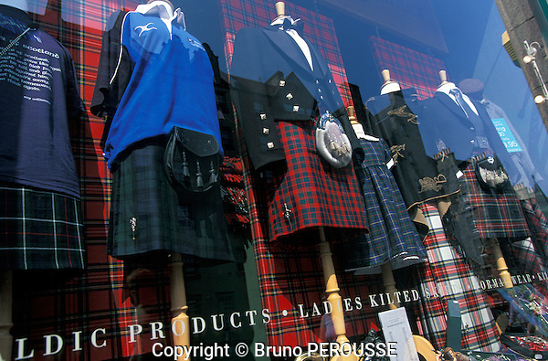 Royaume Uni; Grande Bretagne; Ecosse; Edinburgh; tissus écossais; tartan//United Kingdom; Great Britain; Scotland; Edinburgh; tartan