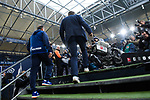 16.03.2019, VELTINS Arena, Gelsenkirchen, Deutschland, GER, 1. FBL, FC Schalke 04 vs. RB Leipzig<br /> <br /> DFL REGULATIONS PROHIBIT ANY USE OF PHOTOGRAPHS AS IMAGE SEQUENCES AND/OR QUASI-VIDEO.<br /> <br /> im Bild Huub Stevens (Trainer / Coach Schalke) betritt Stadion<br /> <br /> Foto © nordphoto / Kurth