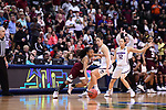 DALLAS, TX - MARCH 31:  Morgan William #2 of the Mississippi State Lady Bulldogs dribbles past Kia Nurse #11 of the Connecticut Huskies during the 2017 Women's Final Four at American Airlines Center on March 31, 2017 in Dallas, Texas. (Photo by Justin Tafoya/NCAA Photos via Getty Images)