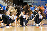 Texas-Arlington Mavericks cheerleaders in action during the game between the Seattle Redhawks and the Texas Arlington Mavericks at the College Park Center arena in Arlington, Texas. Seattle defeats Arlington 61 to 44....