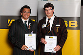 Lawn Bowls Boys finalists Brendyn Johnston and Matthew Pulman.   ASB College Sport Young Sportsperson of the Year Awards held at Eden Park, Auckland, on November 11th 2010.