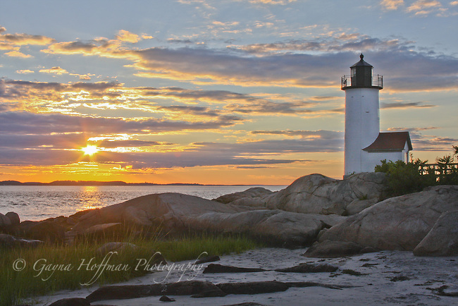 Annisquam Light at sunset, Gloucester, MA