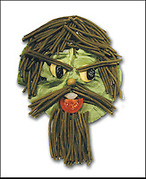 "BNPS.co.uk (01202 558833).Pic: DanielRicon/BNPS..***Please Use Full Byline***..Portrait of the artist...Leonardo Da Veggie!..An artist has transformed humble salad ingredients into works of art in a bid to encourage children to eat their greens...Daniel Ricon bought bags of lettuce, tomatoes, carrot, and cucumber and began layering them on a plate to make the healthy snacks seem more exciting...He created impressive pictures of animals including a cucumber crocodile, and a runner bean lion...Daniel also made a cat, duck, crab, owl, lion, rabbit, penguin, fish, cock, and even a martian...After completing each plate he took a picture and posted it to his website to document his wacky artwork...Daniel, 60, a visual artist from Paris in France, said: ""I have used flowers, leaves, stones, shells, hands, sweets and cakes in my work and it resulted in me working with vegetables...""Working with vegetables is to present a fun way to eat food to children and invite them to try unusual things...""The goal is to make a dish salad to encourage children to eat everything, the subjects are placed on a plate to be eaten......"