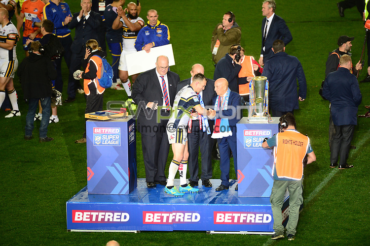 Picture by SWpix.com 07/10/2017 - Rugby League - Betfred Super League Grand Final - Castleford Tigers v Leeds Rhinos, Old Trafford Manchester,England - The Brief, Nigel Wood Fred Done