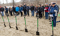A kick-off and sod turning was held for the Guthrie Drive Affordable Seniors Project by Habitat for Humanity.