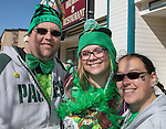 Chris Carlson, Jessica Harris and Karen Carlson during the Shamrock Shuffle 5k fun run in Sparks on Saturday, March 4, 2017.