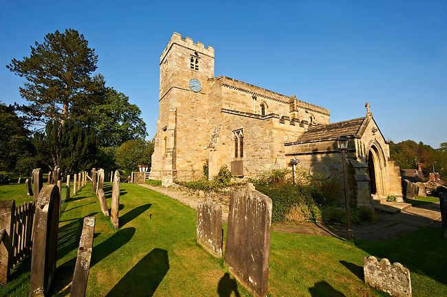 The Norman church of Lastingham church. North Yorks National Park, North Yorkshire, England