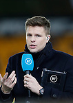 BT Sports presenter Jake Humphrey's during the Premier League match at Molineux, Wolverhampton. Picture date: 14th February 2020. Picture credit should read: Darren Staples/Sportimage