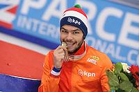"SHORT TRACK: MOSCOW: Speed Skating Centre ""Krylatskoe"", 15-03-2015, ISU World Short Track Speed Skating Championships 2015, World Champion Sjinkie KNEGT (NED), ©photo Martin de Jong"