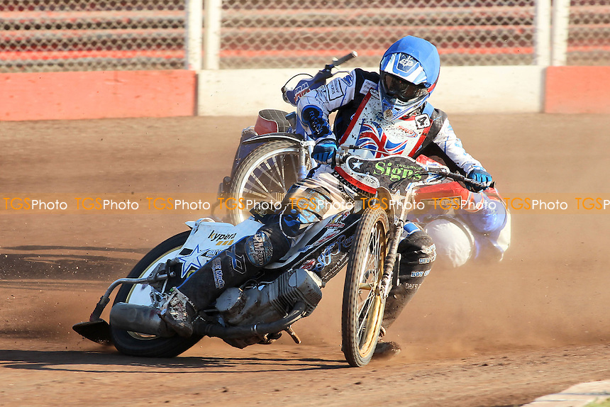 Heat 13: Steve Worrall (GB) - FIM Speedway World Under-21 Team Cup Semi Final at Arena Essex Raceway, Purfleet - 27/05/12 - MANDATORY CREDIT: Gavin Ellis/TGSPHOTO - Self billing applies where appropriate - 0845 094 6026 - contact@tgsphoto.co.uk - NO UNPAID USE.