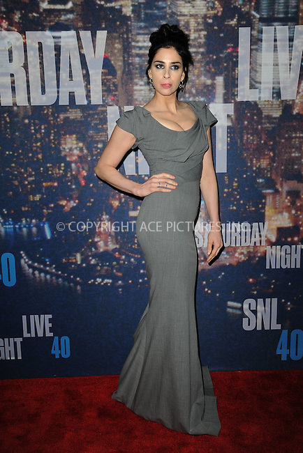 WWW.ACEPIXS.COM<br /> February 15, 2015 New York City<br /> <br /> Sarah Silverman walking the red carpet at the SNL 40th Anniversary Special at 30 Rockefeller Plaza on February 15, 2015 in New York City.<br /> <br /> Please byline: Kristin Callahan/AcePictures<br /> <br /> ACEPIXS.COM<br /> <br /> Tel: (646) 769 0430<br /> e-mail: info@acepixs.com<br /> web: http://www.acepixs.com
