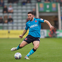 Lewis Coyle of Fleetwood Town during the Sky Bet League 1 match between Plymouth Argyle and Fleetwood Town at Home Park, Plymouth, England on 7 October 2017. Photo by Mark  Hawkins / PRiME Media Images.