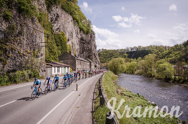 Team Movistar taking control<br /> <br /> 83rd La Flèche Wallonne 2019 (1.UWT)<br /> One day race from Ans to Mur de Huy (BEL/195km)<br /> <br /> ©kramon
