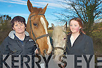 Helena Kelliher and Emily Llyod, Abbeyfeale, pictured at the Kerry County Hunt clubs' hunt at Darby O'Gills, Killarney on Sunday.