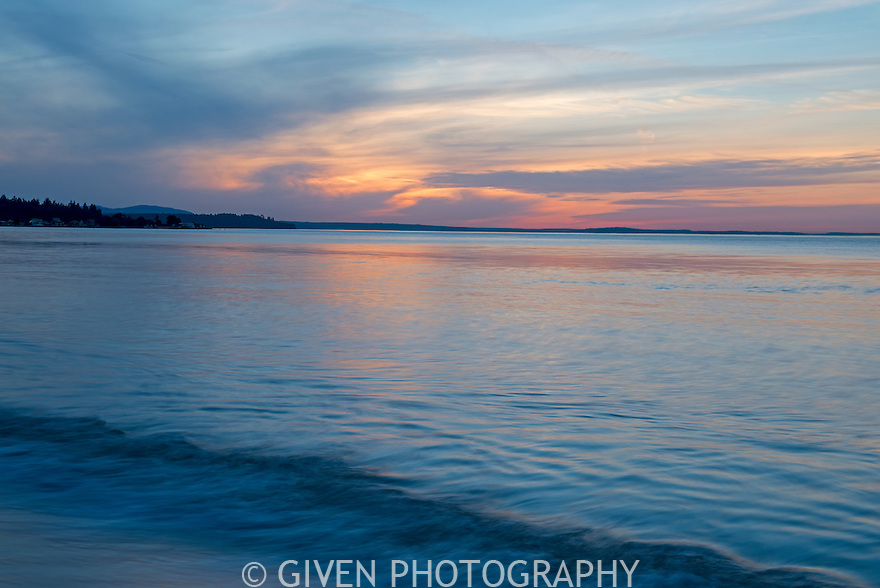 Sunset at Point No Point along Admiralty Inlet, Washington