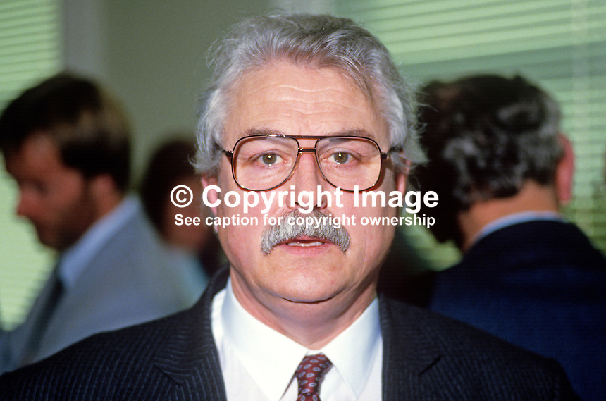 Ken Maginnis, MP, Ulster Unionist, Fermanagh & South Tyrone, N Ireland, 19880103KMG..Copyright Image from Victor Patterson, 54 Dorchester Park, Belfast, UK, BT9 6RJ..Tel: +44 28 9066 1296.Mob: +44 7802 353836.Voicemail +44 20 8816 7153.Skype: victorpattersonbelfast.Email: victorpatterson@me.com.Email: victorpatterson@ireland.com (back-up)..IMPORTANT: If you wish to use this image or any other of my images please go to www.victorpatterson.com and click on the Terms & Conditions. Then contact me by email or phone with the reference number(s) of the image(s) concerned.
