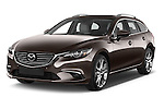2015 Mazda Mazda 6 Skycruse 5 Door Wagon Angular Front stock photos of front three quarter view