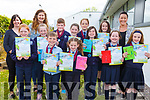 St Olivers NS Ballylongford students at the Scríobh Leabhar competition held in the Tralee Education Centre on Monday.<br /> Front l to r: Emer and Caoimhe O'Sullivan, Mikey Bambury, Ava Carmody, Aoife Griffin, Abby Collins and Sarah Nevile.<br /> Back l to r: Liz O'Sullivan (Principal), Danielle O'Riordan (Teacher), Liam Walsh, Aisling O'Connor, Clodagh Heaphy and Ann Marie Harnett.