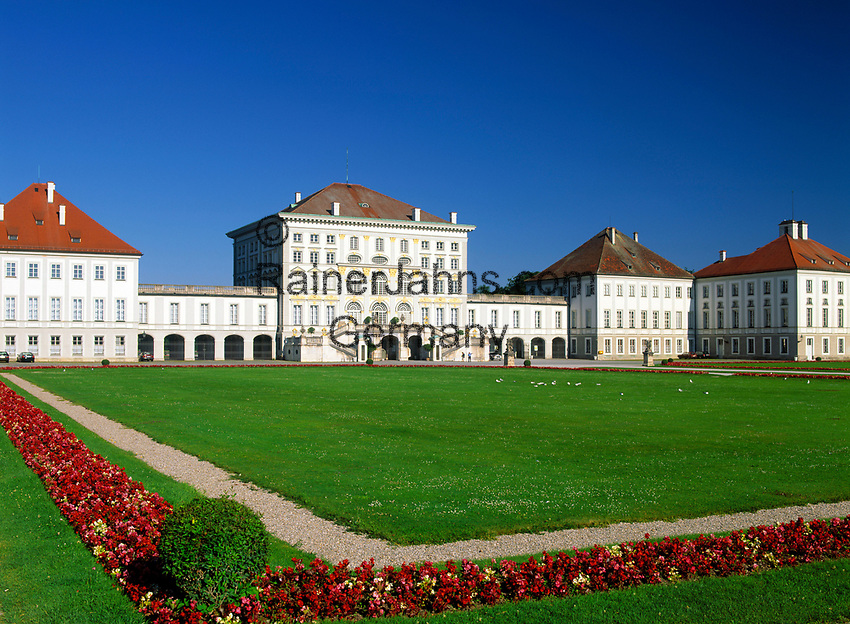 Deutschland, Bayern, Oberbayern, Muenchen: Schloss Nymphenburg | Germany, Bavaria, Upper Bavaria, Munich: Castle Nymphenburg