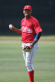 March 18th 2008:  Welinson Baez of the Philadelphia Phillies minor league system during Spring Training at the Carpenter Complex in Clearwater, FL.  Photo by:  Mike Janes/Four Seam Images
