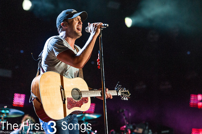 Luke Bryan performs at LP Field during Day One of the 2014 CMA Music Festival in Nashville, Tennessee.