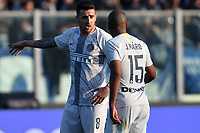 Matias Vecino talks to Joao Mario of Internazionale during the Serie A 2018/2019 football match between Empoli and Internazionale at stadio Castellani, Empoli, December, 29, 2018 <br /> Foto Andrea Staccioli / Insidefoto