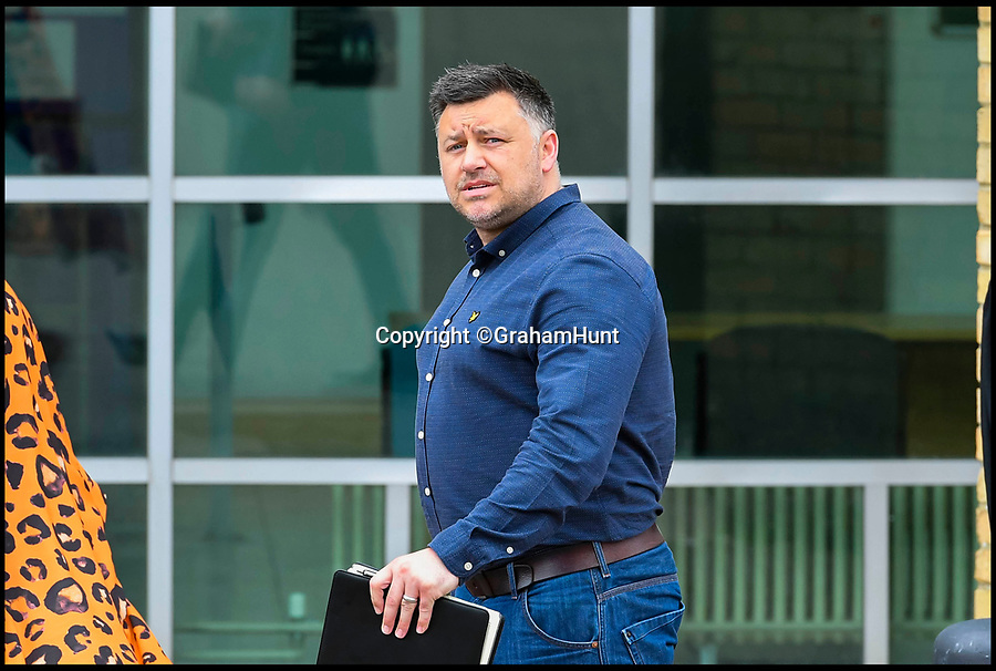 BNPS.co.uk (01202 558833)Pic:  GrahamHunt/BNPS<br /> <br /> Steele Saunders leaving Bournemouth Crown Court.<br /> <br /> The former Royal Marine was in court to see Graeme Brandon(44) sentanced 13 months for stealing his indentity.<br /> <br /> A Royal Marine wept after a fraudster who stole his identity in order to send lewd images of himself to women was jailed. <br /> <br /> Graeme Brandon pretended to be Steele Saunders after stumbling upon the commando's Facebook account.<br /> <br /> The painter and decorator used Gumtree to obtain mobile numbers of 27 random women before sending them explicit messages via WhatsApp.