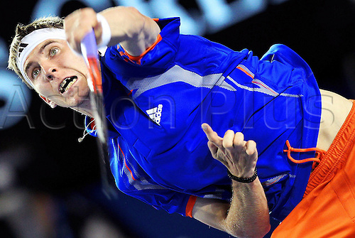17.01.2012 Melbourne, Australia. The Australian Open tennis tournament, a joint ATP and WTA grand slam event. Image shows  Picture shows Cedrik Marcel Stebe ger
