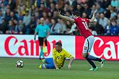 June 1th 2017, Ullevaal Stadion, Oslo, Norway; International Football Friendly 2018 football, Norway versus Sweden;  Sam Larsson of Sweden, Anders Trondsen of Norway