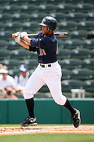 April 13, 2009:  Second baseman Steve Singleton of the Fort Myers Miracle, Florida State League Class-A affiliate of the Minnesota Twins, during a game at Hammond Stadium in Fort Myers, FL.  Photo by:  Mike Janes/Four Seam Images