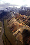 AK: Alaska Denali National Park, Fly In aerial scenics  .Photo Copyright: Lee Foster, lee@fostertravel.com, www.fostertravel.com, (510) 549-2202.Image: akdena211