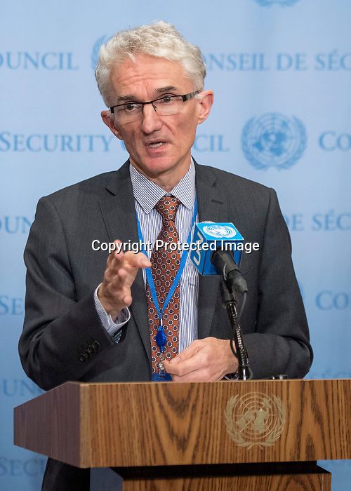 Mark Lowcock<br /> Under-Secretary-General for Humanitarian Affairs and Emergency Relief Coordinator addresses the press