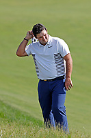 Patrick Reed (USA) reacts after his drive landed in the rough on the 12th hole during the 118th U.S. Open Championship at Shinnecock Hills Golf Club in Southampton, NY, USA. 17th June 2018.<br /> Picture: Golffile | Brian Spurlock<br /> <br /> <br /> All photo usage must carry mandatory copyright credit (&copy; Golffile | Brian Spurlock)