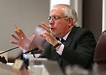 Nevada Assemblyman Pat Hickey, R-Reno, works in committee at the Legislative Building in Carson City, Nev., on Wednesday, April 15, 2015.<br /> Photo by Cathleen Allison
