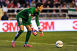 Levante UD´s goalkeeper Diego Marino Villar during 2014-15 La Liga match between Rayo Vallecano and Levante UD at Vallecas stadium in Madrid, Spain. February 28, 2015. (ALTERPHOTOS/Luis Fernandez)