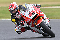 October 27, 2018: Tetsuta Nagashima (JAP) on the No.45 KALEX from Idemitsu Honda Team Asia during the Moto2 practice session three at the 2018 MotoGP of Australia at Phillip Island Grand Prix Circuit, Victoria, Australia. Photo Sydney Low