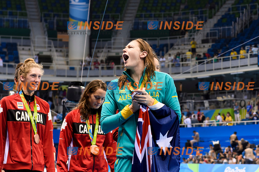McKEON Emma, ELMSLIE Brittany, CAMPBELL Bronte <br /> CAMPBELL Cate AUSTRALIA Gold Medal Women's 4 x 100m Freestyle Relay <br /> Rio de Janeiro 06-08-2016 Olympic Aquatics Stadium <br /> Swimming Nuoto <br /> Foto Andrea Staccioli/Deepbluemedia/Insidefoto