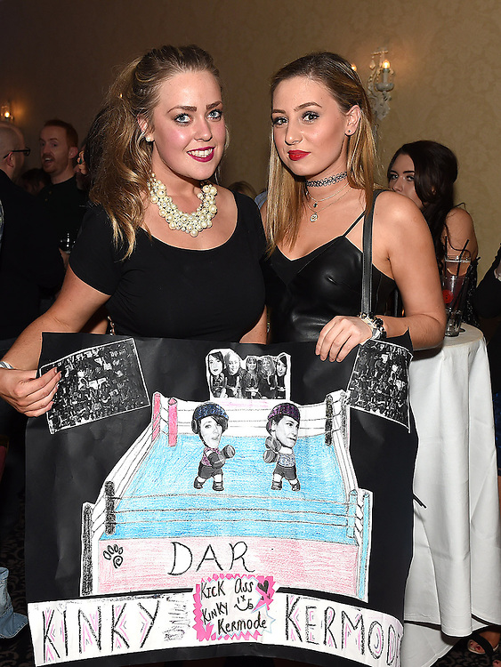 Sabrine Summerville and Nadine Farrell pictured at the white collar boxing in the Westcourt Hotel in aid of Drogheda Animal Rescue. Photo:Colin Bell/pressphotos.ie